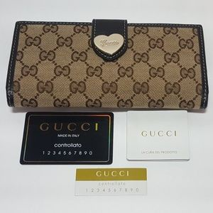 Gucci GG Canvas Continental Wallet